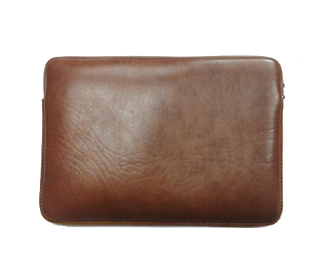 Artificial Leather Laptop Bag - Double Head Zipper